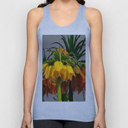 YELLOW CROWN IMPERIAL WATERCOLOR  FLOWERS Unisex Tank Top