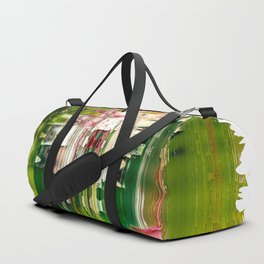 Flowers reflected on water Duffle Bag