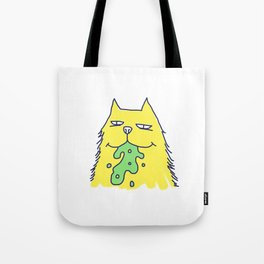 Vomit cat Tote Bag