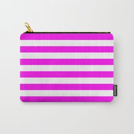 Stripes (Magenta & White Pattern) Carry-All Pouch