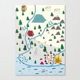 summer camp Canvas Print