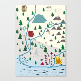 summer camp Canvas Print