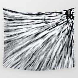 Black & White Pixel Wind Wall Tapestry