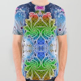 BBQSHOES™: Psychedelic Surf Fractal All-Over Print T-Shirt All Over Graphic Tee