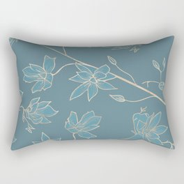 Blueprint Color of the year - Floral 2 Rectangular Pillow
