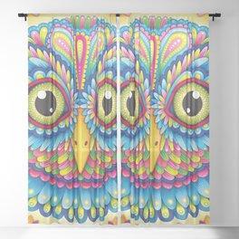 Tropicalia Owl Art Sheer Curtain