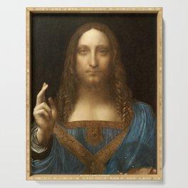 Salvator Mundi by Leonardo da Vinci Serving Tray