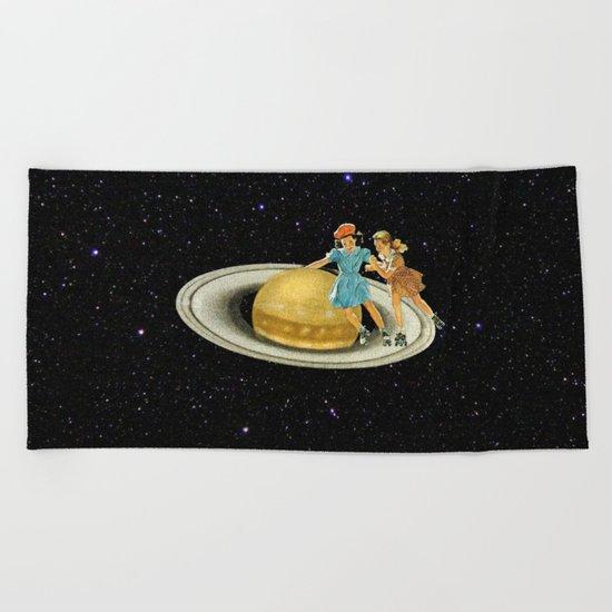 Stroll on Saturn Beach Towel