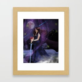 The Lady of the Lake Framed Art Print