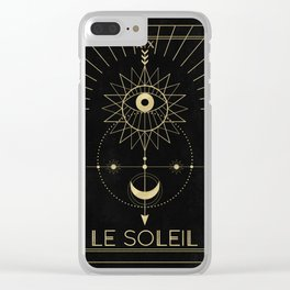 Le Soleil or The Sun Tarot Clear iPhone Case