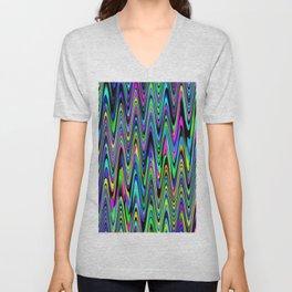 Zigzag Brights Unisex V-Neck