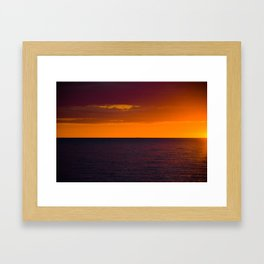 Sunset, Pacific Ocean Framed Art Print