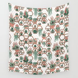 Christmas Succulent Garden. Echeveria, Cacti, plants, aloe vera, pachyveria, haworthia, holiday gift Wall Tapestry