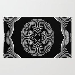Simple Lines Mandala 3 Rug
