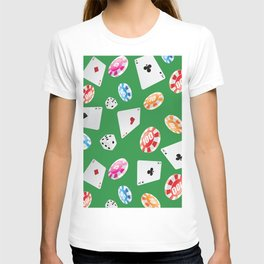 #casino #games #accessories #pattern 4 T-shirt