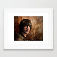 sam winchester Framed Art Prints featuring Sam Winchester by Jackie Sullivan
