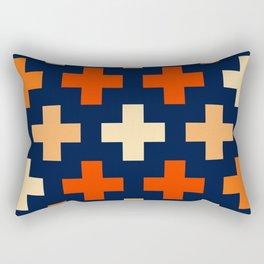 Retro Cross Dreams Rectangular Pillow