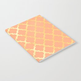 Moroccan Gold & Salmon Pink Notebook