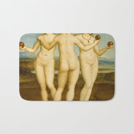 Three Graces by Raphael Bath Mat