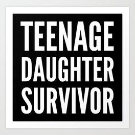 Teenage Daughter Survivor (Black & White) Art Print