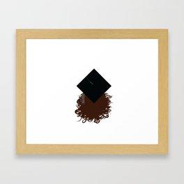 CURLY GRADUATION Framed Art Print