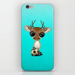 Cute Baby Deer With Football Soccer Ball iPhone Skin