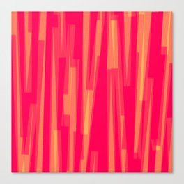 Geometric Red Yellow Painting Canvas Print