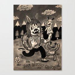 Yumm-Biscuit Gravy! Canvas Print