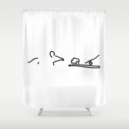 mouse before mousetrap with cheese Shower Curtain