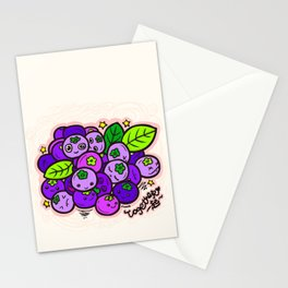 Team Blueberries (Coloured) Stationery Cards
