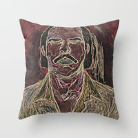nick cave Throw Pillows featuring Cave by Alec Goss