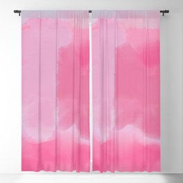 Abstract Hand Painted Pink Lavender Watercolor Blackout Curtain