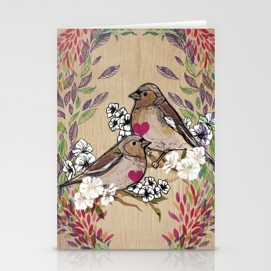 Floral Birds Stationery Cards