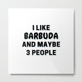 I Like Barbuda And Maybe 3 People Metal Print