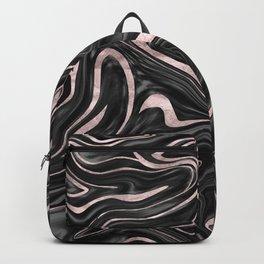 Black Gray White Rose Gold Marble #1 #decor #art #society6 Backpack