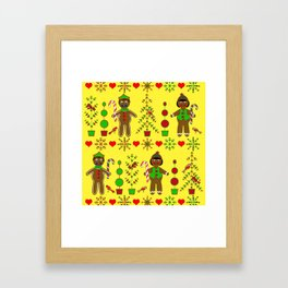 Gingerbread Children Framed Art Print