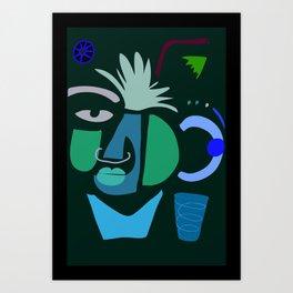 terracotta smile Art Print