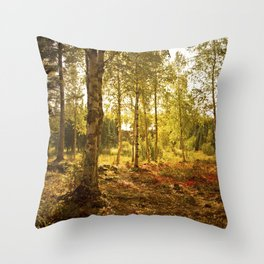 Forrest in the Fall Throw Pillow
