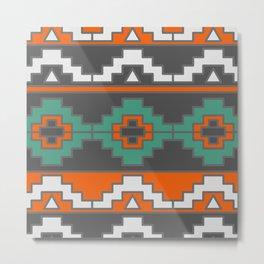 Tribal geometric adornment Metal Print