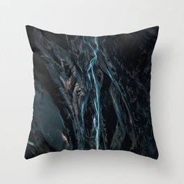 Abstract River in Iceland - Landscape Photography Throw Pillow