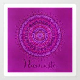 Namaste Mandala Yoga Hindi Symbol Art Print