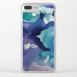 I dream in watercolor B Clear iPhone Case