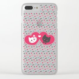Cats in love Clear iPhone Case
