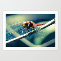 ruby Art Prints featuring Ruby by Faded  Photos