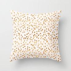 Golden Leaves Throw Pillow