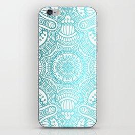 Turquoise Ethnic Pattern With Mandalas iPhone Skin