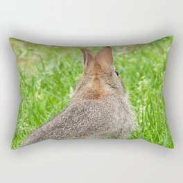 I've Still Got My Eye On You #rabbit #bunny #nature  Rectangular Pillow