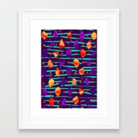 psychadelic Framed Art Prints featuring Psychadelic Natural Pattern #3 by Andrej Balaz