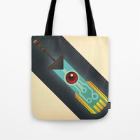 transistor Tote Bags featuring The Transistor by Liam Ball
