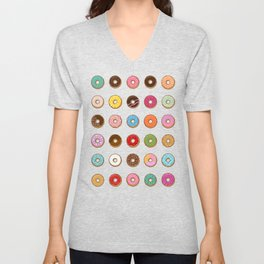 Colorful Doughnuts Unisex V-Neck